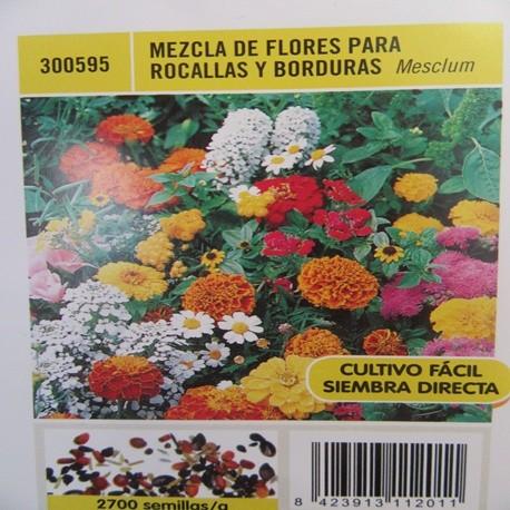 MEZCLA DE FLORES PARA ROCALLAS Y BORDURAS