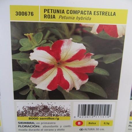 PETUNIA COMPACTA ESTRELLA ROJA